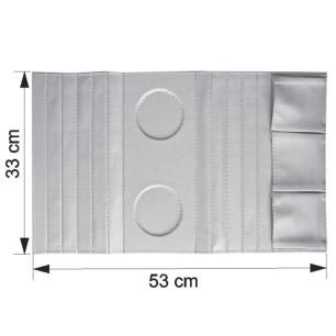Kit 2 Bandejas Sintética Para Sofá Porta Copos Com Porta Controle Vermelho