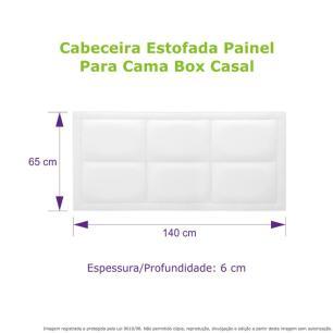 Cabeceira Estofada Painel Preta Para Cama Box Casal 140cm