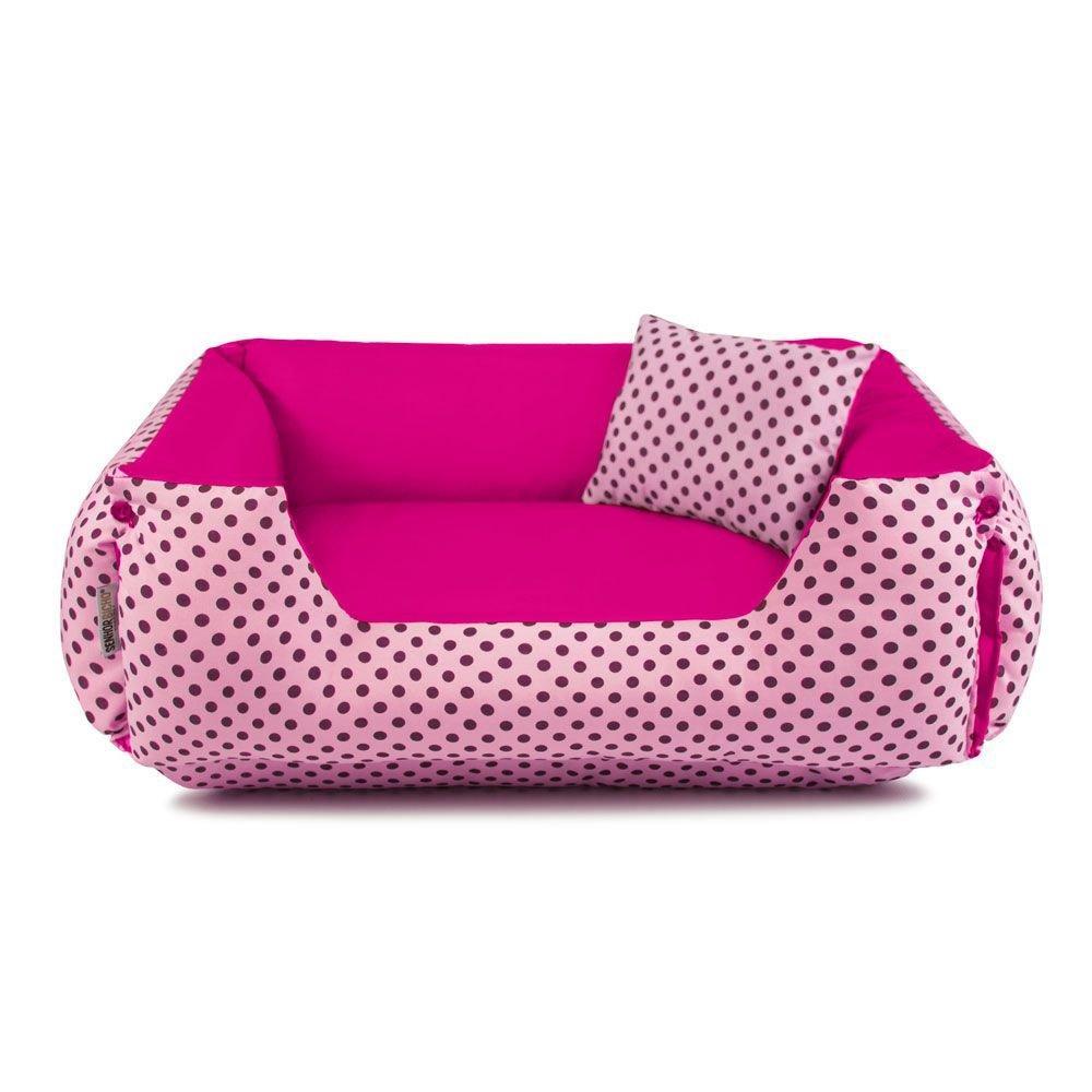 Cama de Cachorro Dupla Face Lola Senhor Bicho - G - Rosa Poá Pink