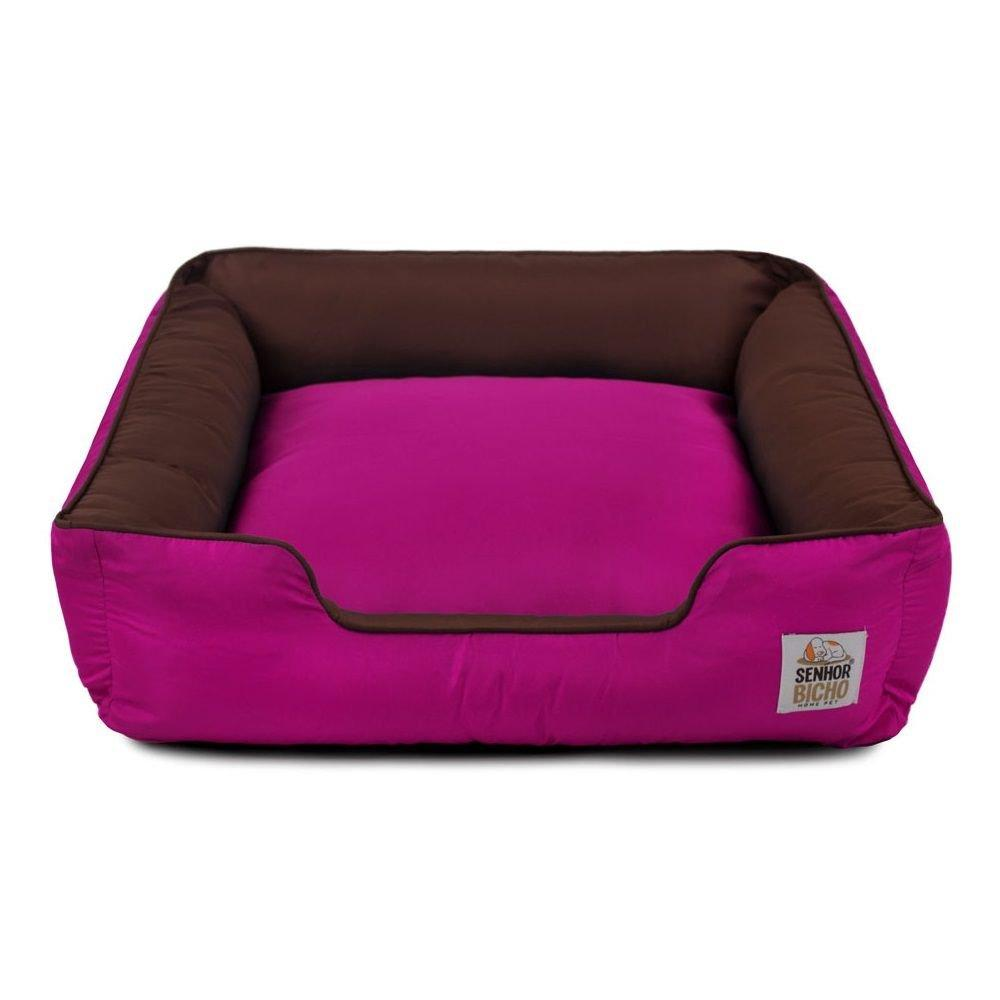 Cama de Cachorro com Zíper Pandora Senhor Bicho - GG - Marrom Pink