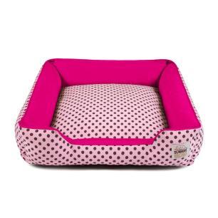 Cama de Cachorro com Zíper Pandora Senhor Bicho - G - Rosa Poá Pink