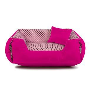Enxoval Cama de Cachorro Dupla Face Lola Senhor Bicho - G - Rosa Poá Pink