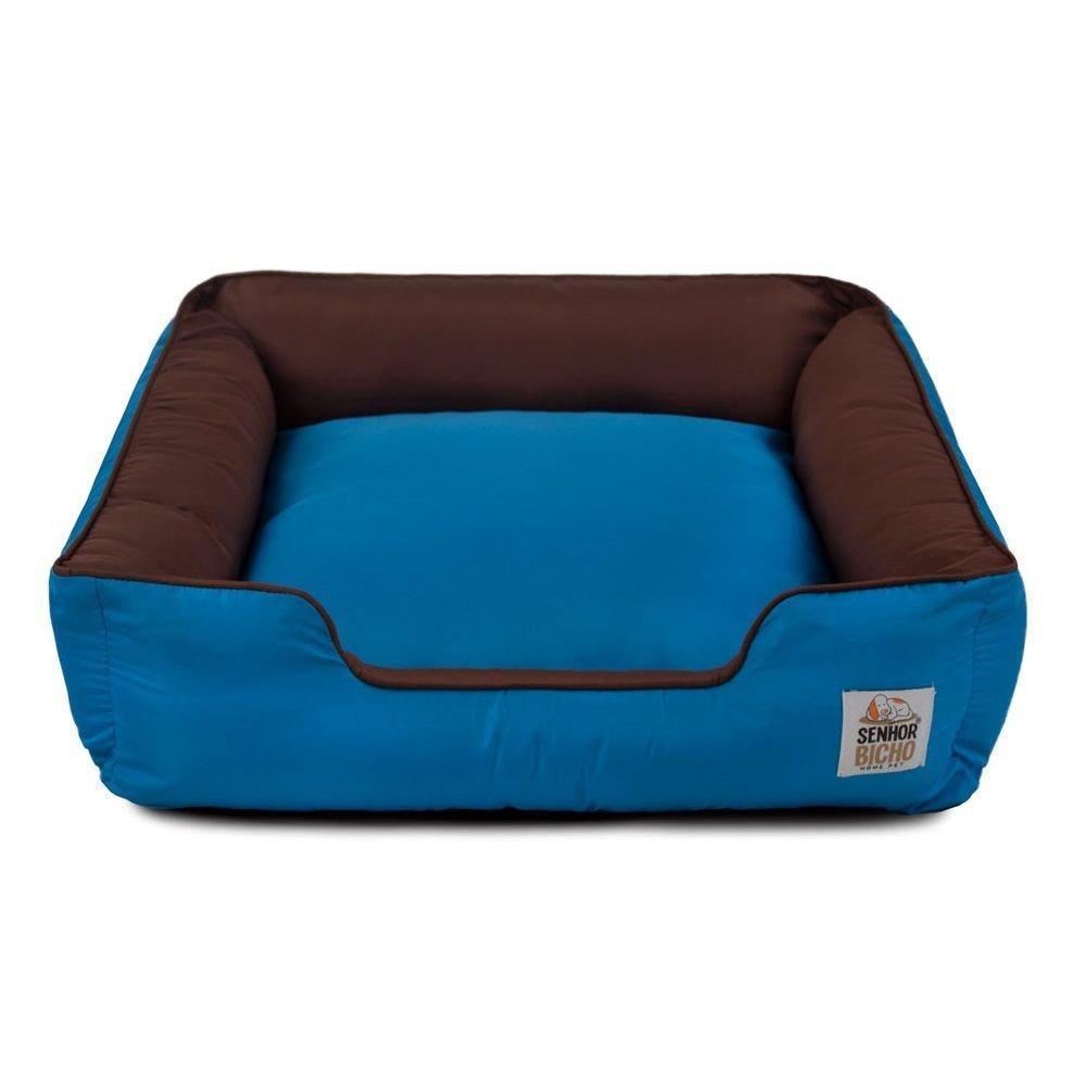 Cama de Cachorro com Zíper Pandora Senhor Bicho - P - Marrom Azul