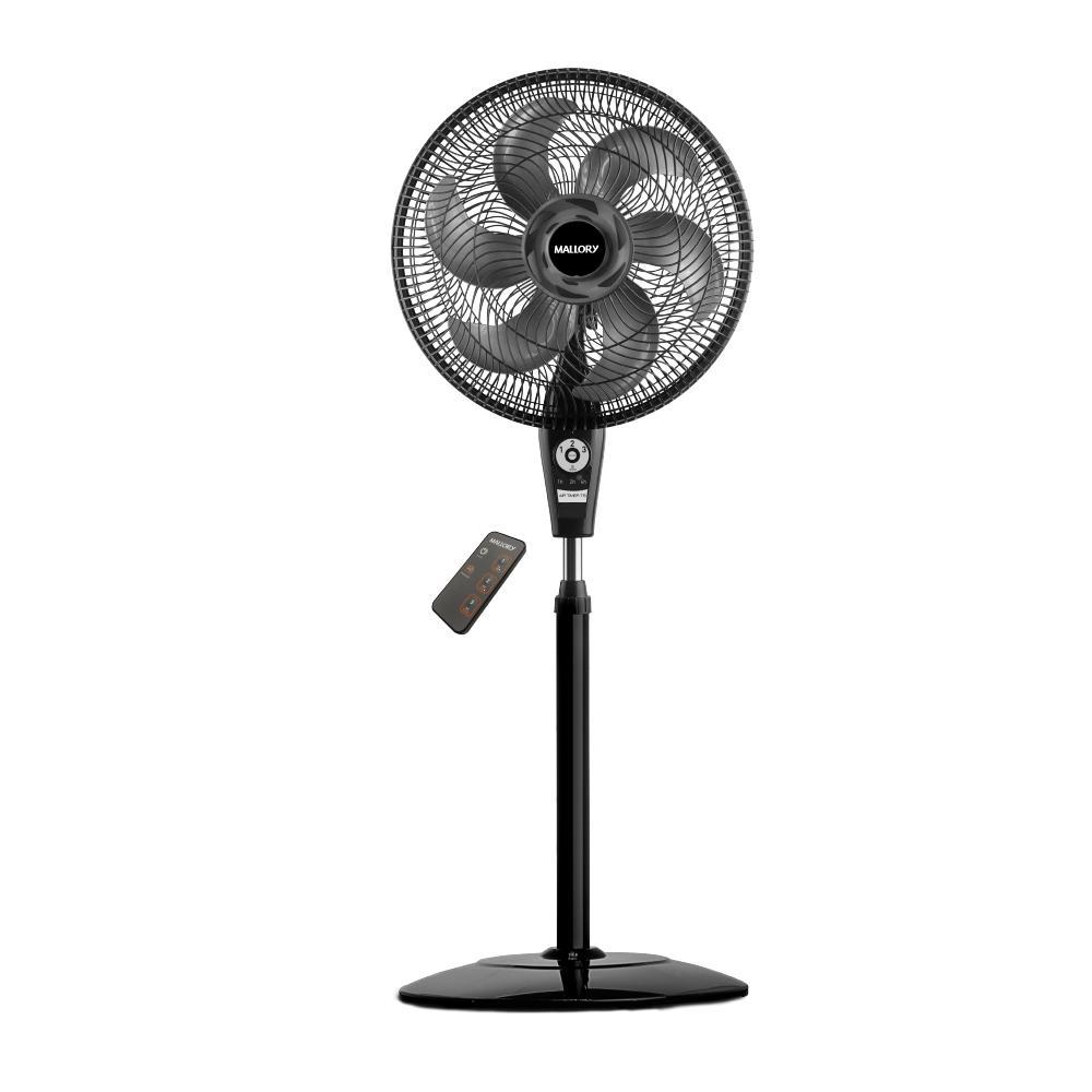 Ventilador Coluna Mallory Air Timer Preto Cont. Remoto