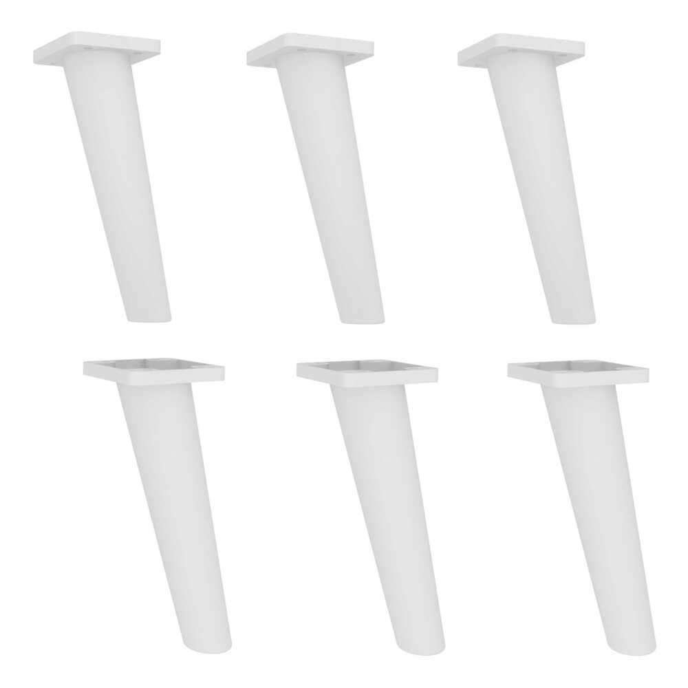 Pés Palito Retrô - Kit com 6 unidades Multimóveis Branco