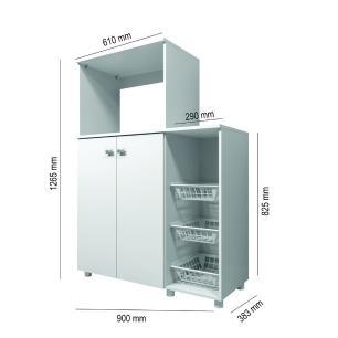 Balcão Multimóveis para Forno e Microondas Branco REF. 2531