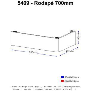 Rodapé Multimóveis Calábria prof. 70cm 5409 Nogueira