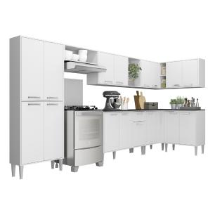 Cozinha Completa com Armário e Balcão com Tampo 8 peças Xangai Soul Multimóveis Branca