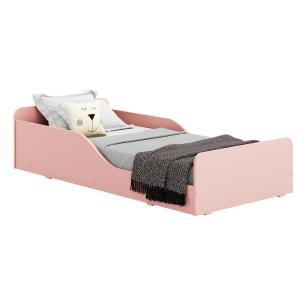 Cama Infantil Montessoriana c/ Barras de Proteção para colchão 70 x 150 cm Square Multimóveis Rosa