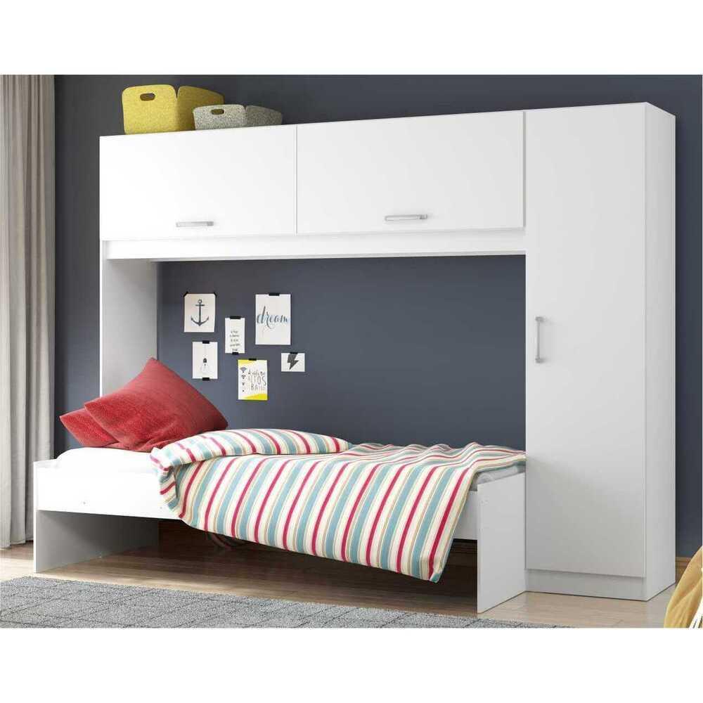 Guarda-Roupa/Roupeiro Multimóveis c/Cama para colchão 190cmx90cm Branco REF.2650.697