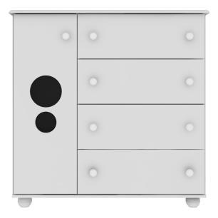 Quarto Completo Pimpolho com berço 3 em 1 com rodízios Multimóveis Branco