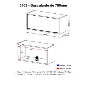 Aéreo Multimóveis Calábria Basculante 5403 Nogueira