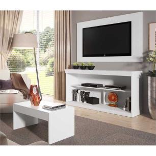 Rack c/Painel TV até 47 Pol Mesa Centro Inovare Multimóveis Branco