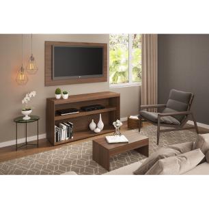 Rack c/Painel TV até 50 Pol.Mesa de apoio Atualle Multimóveis Carvalho Avelã Acetinado Texturizado REF. 2839.161