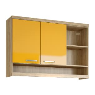Armário  120 cm com nicho Multimóveis Sicília 5125 Argila/Amarelo