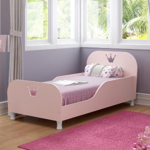 Cama Infantil com Colchão Incluso 70 x 150 cm 100% MDF Realeza Multimóveis Rosa