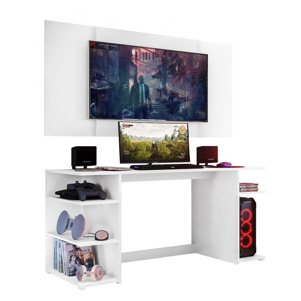Mesa Gamer Escrivaninha com Painel TV 55