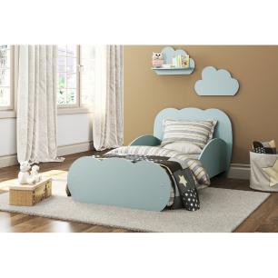 Cama Infantil com 2 Prateleiras para colchão 70 x 150 cm Nuvem Multimóveis Azul