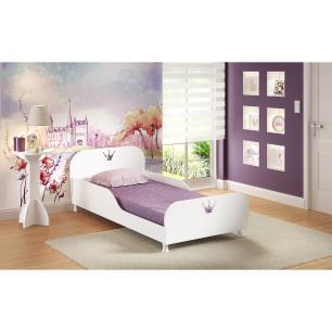 Cama Solteiro para colchão 88 x 188 cm 100% MDF Multimóveis Branca