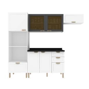 Cozinha Completa 5 peças Americana Multimóveis 5670 Branco/Grafite