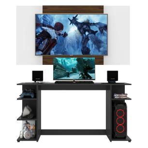 Mesa Gamer com Painel e Suporte TV 65