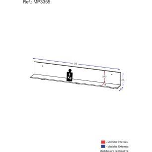 Prateleira Nicho Decorativo 175 cm Multimóveis Branca