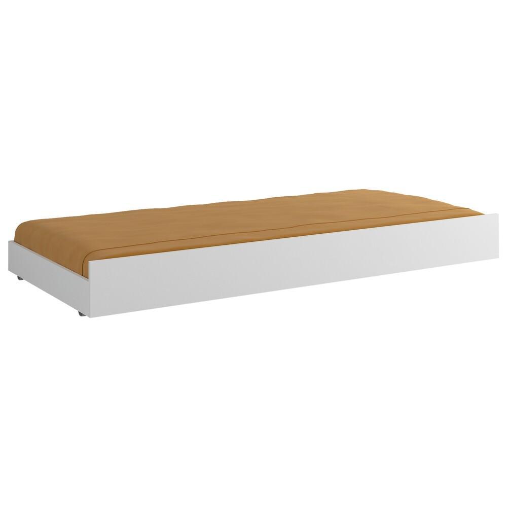 Cama Auxiliar para colchão 78 x 188 cm Multimóveis Branca
