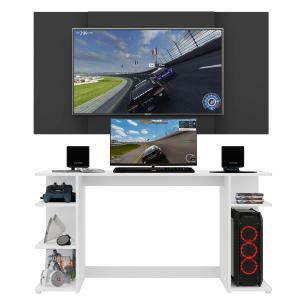Mesa Gamer Escrivaninha com Painel TV 65