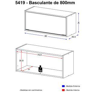 Aéreo Multimóveis Calábria basculante 5419 Nogueira/Branco