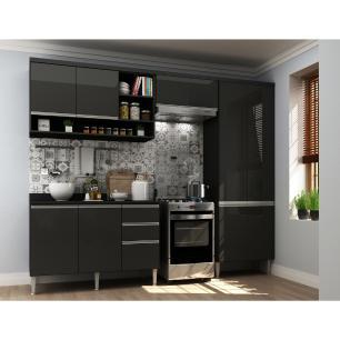 Cozinha Completa com 4 peças Suíça Multimóveis Preto