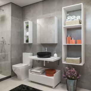 Nicho para Banheiro Multimóveis Branco