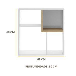 Nicho Componível Multimóveis Multiuso Quadrado com 1 unidade Branco/Argila REF.960