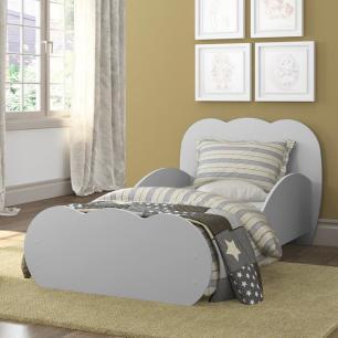 Mini Cama Algodão Doce com colchão 150cmx70cm 100% MDF Multimóveis Cinza