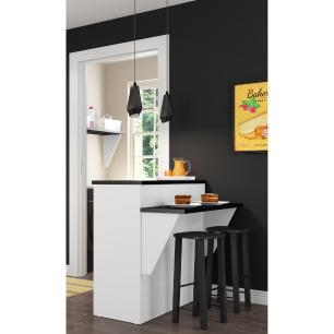 Bancada Balcão/Mesa Cozinha Mariah Multimóveis MP5484 Branca