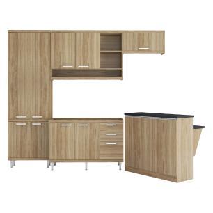 Cozinha Completa Multimóveis com 5 peças Sicília 5845 Argila/Argila