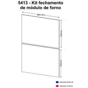 Kit Painéis Multimóveis Calábria para Forno e Micro 5413 Nogueira