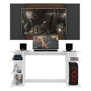 Mesa Gamer com Painel e Suporte TV 55