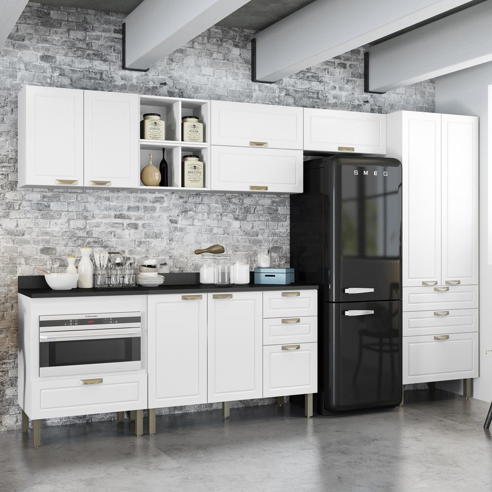 Cozinha Completa 10 peças Americana Multimóveis 5658MF Branco