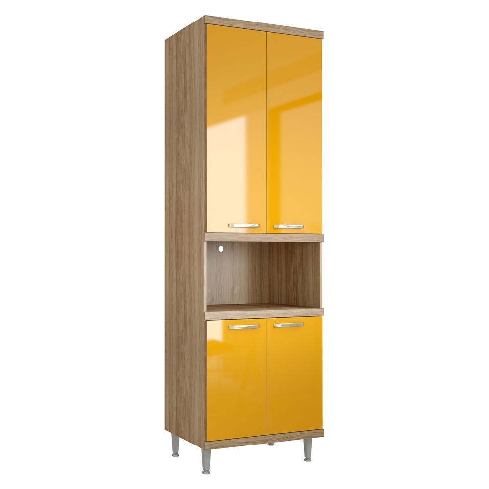 Paneleiro Multimóveis Sicília para forno 5117 Argila/Amarelo