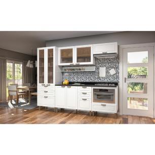 Cozinha Completa 8 peças Americana Multimóveis 5674MF Branco