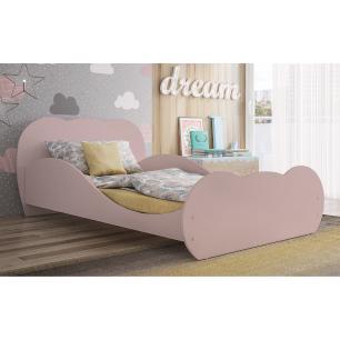 Cama Solteiro para colchão 88 x 188 cm 100% MDF Safira Multimóveis Rosa