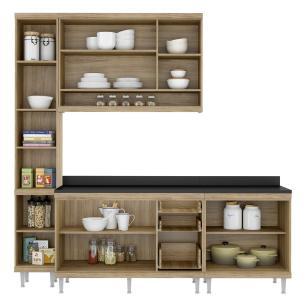 Cozinha Completa Multimóveis com 5 peças Sicília 5813 Argila/Branco