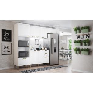 Cozinha Completa 5 peças Americana Multimóveis 5698 Branco