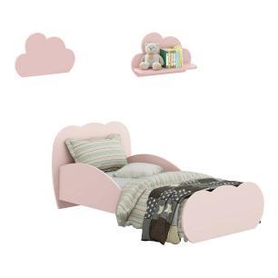 Minicama Nuvem com 2 Prateleiras Nuvem Multimóveis Rosa REF. 2817.157
