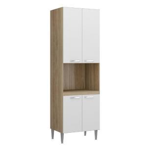 Paneleiro para forno Multimóveis Toscana 5018 Argila/Branco com 04 portas