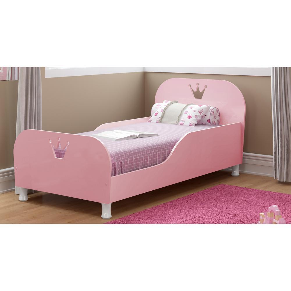 Cama Infantil para colchão 70 x 150 cm 100% MDF Rei/Rainha Multimóveis Rosa Púrpura