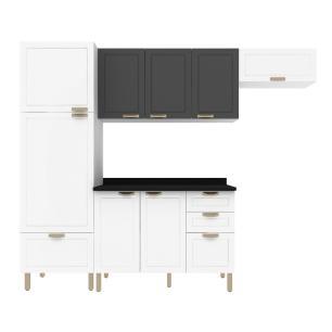 Cozinha Completa 5 peças Americana Multimóveis 5690 Branco/Grafite