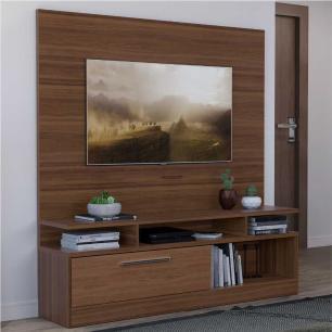 Estante Home Multimóveis p/TV até 70 Pol. Duna Acetinado/Carvalho Avelã 2741.133