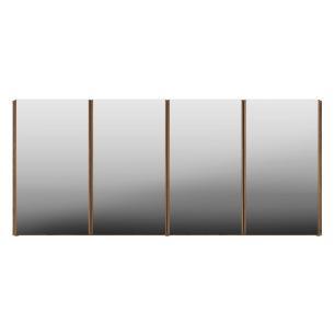 Aparador Buffet 4 Portas com Espelho Suspenso Vegas Multimóveis Rustic