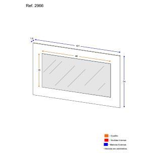 Painel 100% MDF com Espelho para Penteadeira Escrivaninha Ref. 2965 Doçura Multimóveis